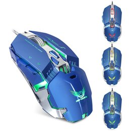 definition electronic Promo Codes - Wired Gaming Mouse Macro Definition 1200 1600 2400 3200DPI LED Variable Opto-electronic Mice For Laptop Notebook PC Computer