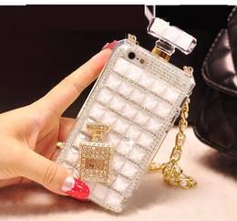 2019 bottiglie di profumo di lusso Adatto per iphone 8x coperture del telefono di lusso 7plus diamante xs max bottiglia di profumo xr coperchio di protezione in silicone 6s bottiglie di profumo di lusso economici