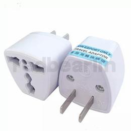 2019 conectores do adaptador de corrente alternada 200 pcs Carregador de Viagem AC Energia Elétrica REINO UNIDO AU UE Para EUA Plug Adapter Conversor EUA Plug Power Adaptador Universal Conector de Alta Qualidade conectores do adaptador de corrente alternada barato