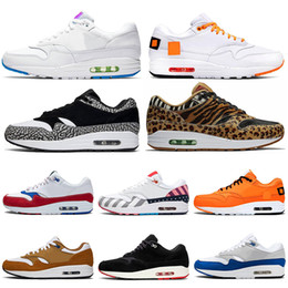 Animais amarelos on-line-Nike Air Max 1 JEWEL 1s Men Running Shoes 1s Atomic Elephant Animal Pack What THE Puerto Rico Mens Trainers Sports Sneakers 36-45