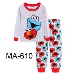 5657b2dad Discount boys summer pajamas - Wholesale Boys Grey Elmo Pajamas Sets 2019  Kids Cartoon Pajamas Children