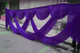 Scène de mariage drape en Ligne-6M large swags de toile de fond mariage drapé décoration décoration stade décor styliste