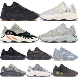han edition белые кроссовки Скидка Утилита Black Gum Bottom 700 Wave Runner Мужские женские дизайнерские кроссовки Новые 700 Kanye West Спортивная обувь с коробкой на складе X 36-46
