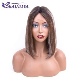 Cores de perucas on-line-Ombre Calor peruca reta curta substituição perucas de cabelo bonito Fancy Dress Partido Hairpieces peruca curta de Bob Wigs Ombre Loiro