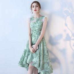 2019 robes de soirée araic dentelle Sage Crew A-line thé longueur robes de bal sexy pas cher formelle partie demoiselle d'honneur robes de reconstitution historique ? partir de fabricateur