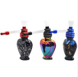 Tubo de vidro impresso colorido portátil e fácil de limpar o ponto de tubulação de água de vidro supplier spot easy de Fornecedores de local fácil