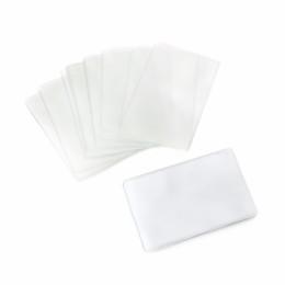 прозрачный пластиковый прямоугольник Скидка THINKTHENDO 20Pcs Rectangle Clear Plastic Work Badge  Holder Protective Case