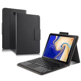 """Bluetooth keyboard galaxy онлайн-Для Samsung Galaxy Tab S4 T830 / T835 10.5 """"Беспроводная Bluetooth Клавиатура Фолио Чехол 2in1 Кожаный Чехол Shell Skin Для iOS / Android / MacOS"""