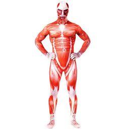 costume de maman en lycra Promotion Hot Men Lycra thème costume maigre serré Halloween Chirstmas costume adulte Full Body movie momie super-héros Zentai cosplay costume