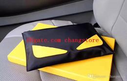 diseñador de alta calidad bolsos amarillos Rebajas bolsos de lujo de diseñador de alta calidad bolsos bolsos de embrague grandes de diseño para hombres Italia lona de calidad 7129 cremallera negra con billetera cuadrada amarilla