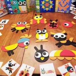 montessori giocattoli anno vecchio Sconti Baby Montessori Cartoon Puzzle 3D in legno con carta giocattolo Kids Creative Animals Puzzle Early Learning Educational Toy 3 anni