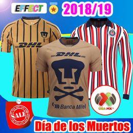 2019 weltclub cup 2018 Mexico Club UNAM 18/19 Camiseta Fußball-Trikot-Set 2019 Chivas especial World Cup Castillo Football Shirts günstig weltclub cup
