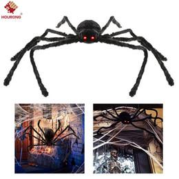 Decoración de Halloween Big Black Spider Decoración de Halloween Casa embrujada Prop Interior Exterior Negro Gigante 3 Tamaño 30cm / 50cm / 70cm desde fabricantes