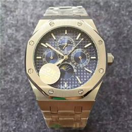 2019 более чем 60 брендов 6 цветов JH Top мужские часы Роскошные мужские автоматические механические часы 26574 из нержавеющей стали 25820 Дуб без хронографа Сапфир высокого качества скидка более чем 60 брендов
