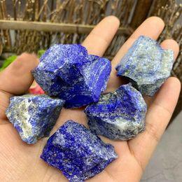 Pedra lazuli on-line-100g Natural Lapis Lazuli Raw Gemstone Áspero de Quartzo Espécime Mineral Original Pedras de Cura