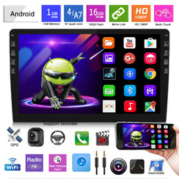 Carregador de carro para leitor de dvd on-line-10.1 polegadas Carro DVD Leitor Universal Navigator Radio Display All-in-One Tela Capacitiva GPS Quad-Core WiFi Android 9.1