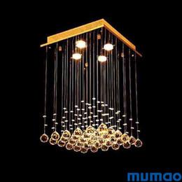 Carré Monté Plafonniers Lustres Moderne Lampes Suspendues Lustre Cristal Lampe LED Suspension Suspension Suspensions Lampes Salle À Manger Salon ? partir de fabricateur