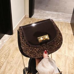 bonitas bolsas de hombro negro Rebajas Nice Summer Brand Bolsos Mujeres Bolsos de cuero Cadena Pequeñas mujeres Messenger Bag Black Shoulder Bag Party Lock Purse