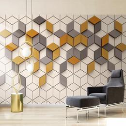 2019 murais de mosaico Sob encomenda da foto mural papel de parede 3d estereoscópico mosaico de fundo da tela de tv pintura de parede quarto sala de estar papel de parede decoração da sua casa desconto murais de mosaico
