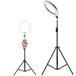 Самообучающаяся видеокамера онлайн-Диаметр 26 см Lightdow Dimmable LED Студия Кольцо Камеры Свет Фото Телефон Видео Свет Лампы С Штативами Селфи Стик Кольцо Заполняющий Свет