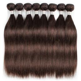 Cabelo curl indiano profundo on-line-1 kg Atacado 10 Pacotes de Cabelo Indiano Weave Em Linha Reta Corpo Onda Profunda Onda de Água Cor Marrom Escuro 2 Processado Tecer Cabelo Humano 10-24 polegada