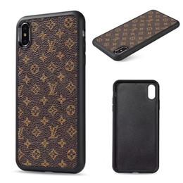 Designer iphone en Ligne-Top Designer pour iPhone X Xs Max XR 8/7/6 Plus Coque Arrière Monogramme Branding pour Samsung Galaxy S9 S10 Plus note 8 9 Coque Mobile