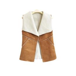 Canada Gilet d'hiver manteaux femmes fourrure revers vestes couture gilet en cuir d'agneau Offre