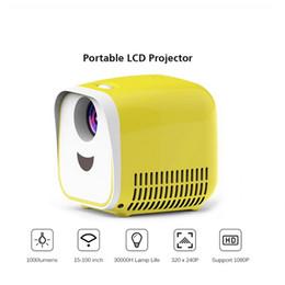 L1 Mini Projector WIFI USB Children Projector portátil 1000 Lumens Micro Projector 320x240p para a família para Computador Portátil PC TV de Fornecedores de projetor 3d barato