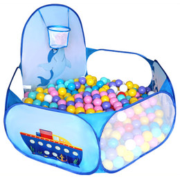 In Quality Cartoon Dolphin Pattern Baby Ball Pit Foldable Washable Toy Pool Children Hexagon Ocean Game Play Tent House Baby Playing Pool Superior