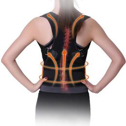 Cinghia di sostegno uomini donne supporto posteriore magnetica spalla postura correttore uomini cinture di massaggio prodotti sport sicurezza vita cinture j2 # 270717 cheap sports massage products da prodotti per massaggi sportivi fornitori