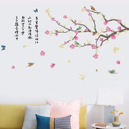 20190621 China Wind Wall Paste All'ingrosso New Plum Swallow Studio Soggiorno Decorazione rimovibile impermeabile a parete pasta da
