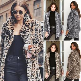 asymmetrische strickjacke plus größe Rabatt Hirigin 2018 Neueste Heiße Frauen Winter Leopard Flauschige Fleecejacke Mantel Strickjacken Mit Kapuze Jumper Tops Clubwear