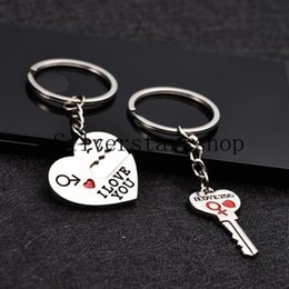 English Secretly Love Your Heart-Key Couple Key Key Keys Smile Face Metal Key Keys Regali di vendita caldi creativi da