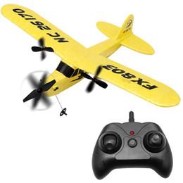 aereo remoto per i bambini Sconti FX803 RC Aereo Materiale EPP RC Airplane Modello Aliante Droni Outdoor 2.4G controllo remoto Dron Giocattoli Per Kid Boy Regalo Di Compleanno