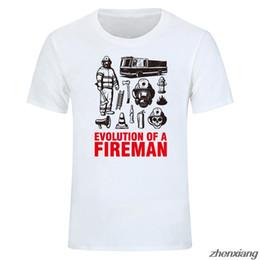bombeiro camiseta Desconto Evolução de um presente bombeiro bombeiro camiseta T-shirt estilo verão de manga curta impressa camisa dos homens estilo s-x5xl