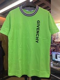 Ordenação camisetas on-line-Roupas de rua de verão 19SS Europeia Paris moda masculina de algodão giv T-shirt casual T-shirt das mulheres T-shirt cor misturada por atacado ordem em massa