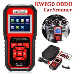 2019 código de escáneres 2019 el más nuevo KONNWEI KW808 / KW850 OBDII EOBD OBDII / 2 Auto Car Scanner Diagnóstico Herramienta Lector de código de escáner