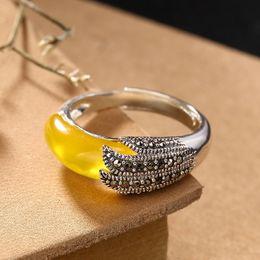 Grüner rubinring online-100% realer grüner Jade Ring Chalcedon Ringe 925 Sterling Silber Männer Frauen Ringe 925 Ring Marke Schmuck-Zertifikat hinzufügen Rubin