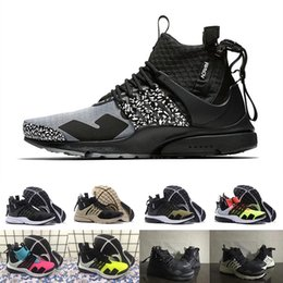 b8f89d10aae9 New Fashion Camouflage Graffiti ACRONYM X Presto Mid V2 Men Running Shoes  Runner Racer Black Grey With Zipper Mens Trainers Casual Shoes inexpensive  running ...