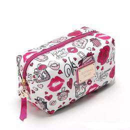 2019 guardanapos de algodão branco por atacado Sugao rosa 2018 novo estilo secreto impressão grande capacidade de maquiagem saco de cosméticos sacos para organizador de armazenamento de viagem e saco de higiene