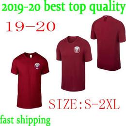 Tempos mais rápidos on-line-Navio rápido 2019 Americas Cup Qatar Camisa de Futebol Qatar Casa Aloez Vermelho Ali Afif Ali Alrawi Camisa De Futebol Qatar nacional uniformes de time de futebol