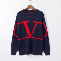 Kaschmir anzüge für männer online-Neue Herren Designer T-Shirt lässig Pullover Herbst und Winter 2019 Herren Langarm Pullover Hip Hop Trikot außerhalb Anzug Set Luxus süß
