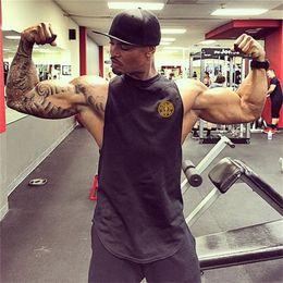 2019 gold jungs Muscle Guys Brand Turnhallen Kleidung Baumwolle Golds Weste Bodybuilding Stringer Tanktop Fitness Singlet Herren ärmelloses Hemd Männer # 297929 rabatt gold jungs