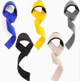Gewichtheben handschuhe online-2 teile / para Gewichtheben Hand Pad Wrist Wraps Riemen Handschuhe für Frauen Gym Unterstützung Lifting Griff Gürtel Training Fitness Gewicht