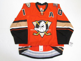d609a1e6c Cheap custom PERRY  10 ANAHEIM DUCKS THIRD TEAM ISSUED EDGE 2.0 7287 JERSEY  stitch add any number any name Mens Hockey Jersey GOALIE CUT 5XL