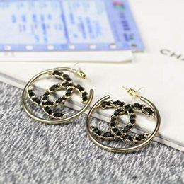 Logos de parafuso on-line-Top qualidade designer de jóias de luxo mulheres brincos brincos de latão / Broche 18 K banhado a Ouro com diamante e oco logo mulheres moda jóias