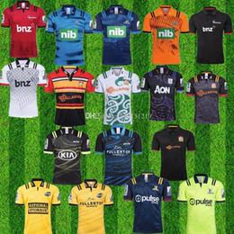 camiseta de fútbol de australia Rebajas 2019 2020 Super Rugby Jersey nuevos súper huracanes azules cruzados Highlanders 18 19 20 camisetas de rugby de los jerseys Zelanda