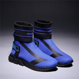 2019 Mens Womens Sorrento Yüksek Top Çorap Sneakers, Streç-örme Eğitmen Çizmeler Tıknaz Topuk Renk ile Kırmızı Mavi Siyah Kutu Boyutu 35-46 nereden dondurulmuş kışlık ayakkabılar tedarikçiler