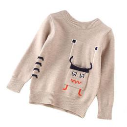 2019 горячая осень мальчик свитера вокруг шеи сплошной цвет вышивка милый средний и маленький детский свитер зима вязать свитер мальчиков cheap embroidery knitted sweater children от Поставщики вышивка вязаный свитер детей