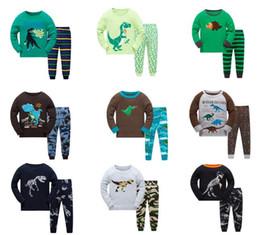 2019 pigiama sirena Bambini Pigiama Ragazzi Animali Pigiameria Bambini Pigiama Top + Pantaloni Pigiama 2 pezzi per 1 ~ 7 anni 6 set / l